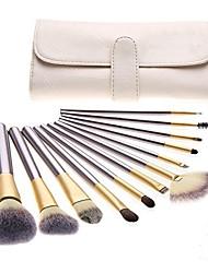 cheap -pro 12pcs makeup brushes set powder foundation eyeshadow eyeliner lip brush tool