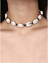 cheap -Women's Choker Necklace Shell Natural Fashion Boho Cord Shell White 42 cm Necklace Jewelry 1pc For Party Evening Gift Festival