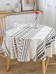 cheap -Tablecloth Bohemian Cotton And Linen Printing Round Living Room Fabric Tablecloth