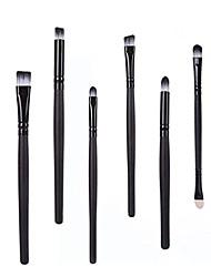 cheap -6pcs cosmetic makeup brushes sets,foundation eyeshadow eyebrow eyeliner blush concealer lip makeup brushes (white)