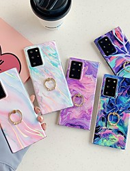 cheap -Case For Samsung Galaxy Galaxy A50(2019) / Galaxy M30(2019) / Samsung Galaxy A40(2019) Ring Holder / Pattern Back Cover Marble TPU