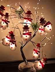 cheap -Snowman LED String Lights 1.65m 10LEDs Christmas Tree Decoration Light Battery Operated Fairy Light Christmas New Year Garden Decorations