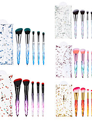 cheap -Cross-border new 5pcs crystal clear diamond handle makeup brush set makeup tools eye shadow brush factory direct sales