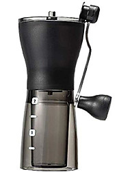cheap -manual coffee grinder coffee grinder manual adjustable coarseness grinder home mini portable coffee bean hand grinder ideal for home office and travelling (color : black, size : one size)