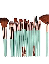 cheap -brush sets 2018 new 18 pcs makeup tools toiletry kit wool make up brush set (green)