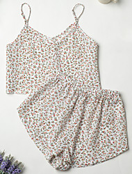 cheap -Women's Home Polyester Loungewear Floral / Botanical S Green