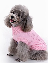 cheap -Dog Coat Sweater Jacket Cartoon Fashion Casual / Daily Outdoor Winter Dog Clothes Puppy Clothes Dog Outfits Light Blue Lake blue Red Costume for Girl and Boy Dog Silk Fabric Cotton XS S M L XL