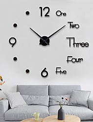 cheap -Wall Clock Fashion DIY Plastic Metal Acrylic Stainless steel Round Indoor / Outdoor (100cm x 100cm)