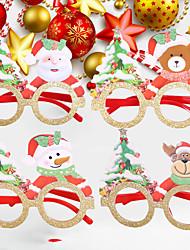 cheap -Christmas Toys Photo Booth Props Christmas Glasses Elk Snowman Santa Claus Decoration Party Favors Plastic 4 pcs Kid's Adults 14cm*14cm*12cm Christmas Party Favors Supplies