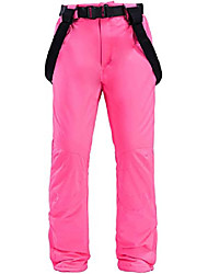 cheap -women's one piece winter outdoor sport mountain windproof waterproof snow pants removable suspenders insulated ski pants pink