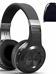 cheap -turbine h  plus wireless bluetooth 5.0 stereo headphones with mic, shocking bass headphones with storage bag for music enthusiast, voice control & #40;on ear, white, with sd card slot/fm