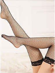 cheap -Women's Thin Stockings - Sexy / Lace White Black Red One-Size