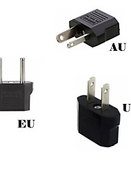 cheap -3pcs Power Plug Converter Travel Adapter EU To US Europe US to EU AU High Power Fast Delivery Portable Travel Converter Safe