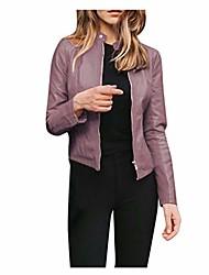 cheap -original leather jacket women coat purple xxl