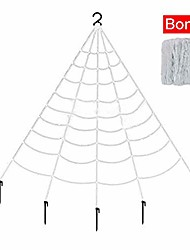 cheap -halloween giant spider web 22 x 16.5 feet with super stretch cobweb set, 22 small spooky spider webbing for halloween decorations outdoor yard decor