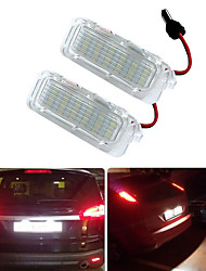 cheap -2Pcs 2W 12V 6500K White Canbus LED Number License Plate Light Lamp For Ford Focus Mondeo Fiseta kuga