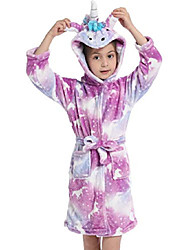 cheap -new little girls unicorn hooded bathrobe sleepwear baby kids unicorn pajamas children gifts size 6t