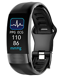 cheap -P11 PLUS Unisex Smart Wristbands Heart Rate Monitor Blood Pressure Measurement Calories Burned Thermometer Health Care ECG+PPG Pedometer Call Reminder Activity Tracker Sleep Tracker