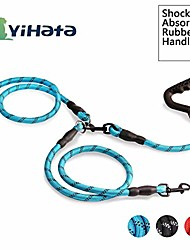 cheap -dual dog double dog leash zinc alloy clasp available for large medium and small dog (blue - 2)
