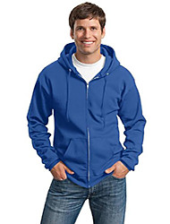 cheap -port & company men's tall ultimate full zip hooded sweatshirt 4xlt royal
