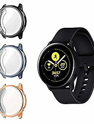 cheap -case protector compatible with galaxy watch active, 3-pack full cover scratchproof tpu protective case watch cover with screen protector fit galaxy watch active - black + space gray + rose gold