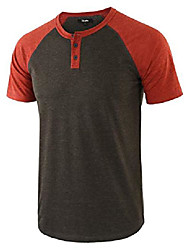 cheap -but& #39;s casual vintage short raglan sleeve baseball henley jersey shirts h.charcoal/rusty m