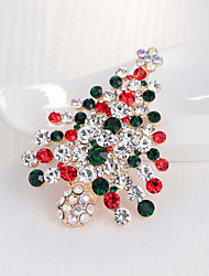cheap -Women's Brooches 3D Christmas Fashion Gold Plated Brooch Jewelry Rainbow For Christmas Gifts Wedding Party Dress Party & Evening New Year