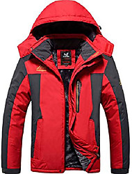 cheap -mens plus size winter mountain waterproof jacket snowboard jackets snowboarding jacket windproof fleece ski jacket coats red us xl/asia 5xl