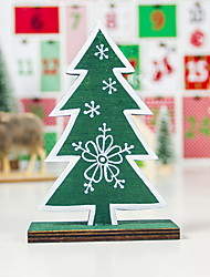 cheap -Christmas Ornaments Wooden Painted Snowflake Christmas Tree Ornaments