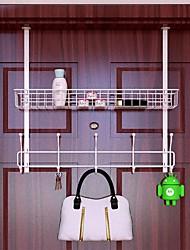 cheap -Modern Door Hook Organizer Sehlf Rack, Clothes Hanger, Coat Hook, Use in Bathroom and Bedroom, 5 Hooks, Black White- 1pc