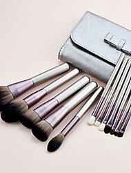 cheap -Meifeilai 12 small grapes makeup brush micro-fine silk bristles beginner eye shadow brush loose powder set beauty tools