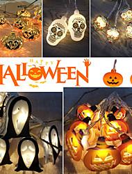 cheap -1.5m 10Led Halloween Pumpkin Ghost Skeletons Bat Spider Led Light String Festival Bar Home Party Decor Halloween Ornament