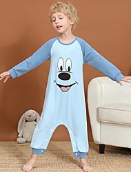 cheap -Kids Boys' Active Basic Print Animal Pattern Patchwork Print Sleepwear Light Blue