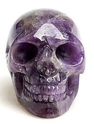cheap -healing skull quartz crystal figurines sculpture,natural amethyst fluorite gemstone stone,reiki carved skull statue collection home decor length 2 inches