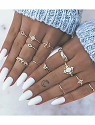 cheap -boho rings set gemstone joint knuckle ring set vintage mid rings for women and girls. (1)