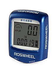 cheap -wired waterproof lcd bike computer blue