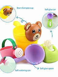 cheap -bath toys with waterwheel sprinkling can watering can dipper bucket baby shower toy kid toy set children bath girl boy shower