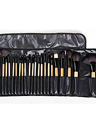 cheap -24 Pcs Makeup Brushes Set Cosmetic Brushes Wood Color Makeup Set Black Makeup School Beauty Tools