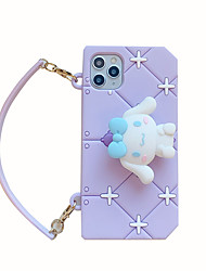 cheap -Case For Apple iPhone 11 / iPhone 11 Pro / iPhone 11 Pro Max Shockproof / Frosted / Pattern Back Cover 3D Cartoon Silica Gel