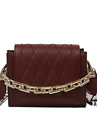 cheap -Women's Bags PU Leather Polyester Top Handle Bag Chain Daily Office & Career 2021 Handbags White Black Khaki Brown