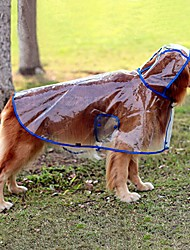 cheap -dog see-through raincoat cool rain jackets adjustable poncho for medium large dogs 2xl to 6xl (5xl, blue)