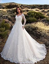cheap -Women's Chiffon Dress Maxi long Dress - Long Sleeve Solid Color Fall Formal Elegant 2020 White S M L XL XXL 3XL