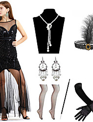 cheap -A-Line Elegant Sexy Party Wear Formal Evening Dress Illusion Neck Sleeveless Ankle Length Spandex with Pleats Sequin 2020