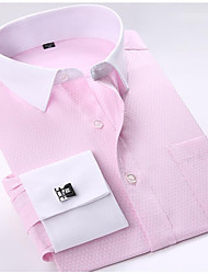 """cheap -french cuff long sleeves fit dress shirts (cufflink included) (16"""" neck-34/35 sleeve, fs18)"""