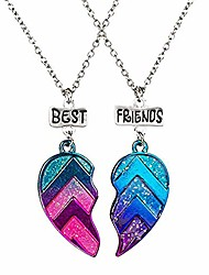 cheap -Necklace Heart Friendship Modern Style Love Punk Alloy Color two-piece suit-S548A 46 cm Necklace Jewelry For Party Daily Sports Work