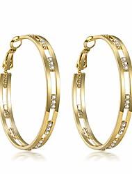 cheap -cubic zirconia hoop earrings for women - 14k gold plated 925 sterling silver shiny wide round hoop earrings (gold)