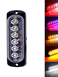 cheap -6LED Light Bar Flash Emergency Car Vehicle Warning Strobe Flashing Blue Red White Yellow Amber