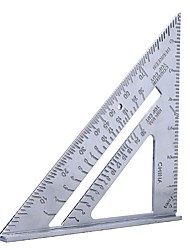 cheap -7inch Aluminum Alloy Measuring Ruler Speed Square Roofing Triangle Angle Protractor Trammel Measuring Tools For Carpenter Gauges