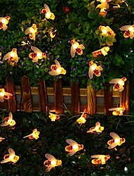 cheap -Bee Lights String Led Honey Bee Shape Fairy Lights For Outdoor Home Garden Fence Summer Decoration