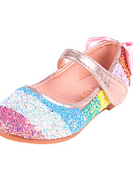 cheap -Girls' Flats Comfort Flower Girl Shoes Princess Shoes Patent Leather PU Little Kids(4-7ys) Daily Party & Evening Walking Shoes Bowknot Pearl Sequin Black Pink Spring Fall / Color Block / Rubber